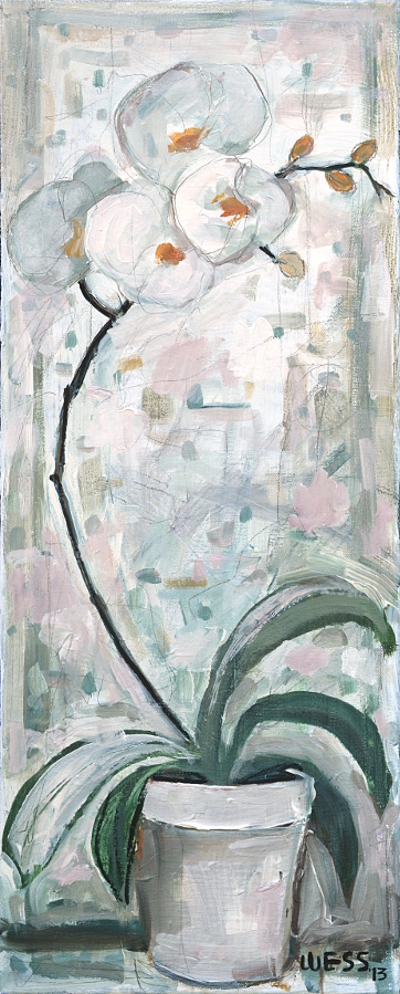 """Orchid,  28x11"""", SOLD"""