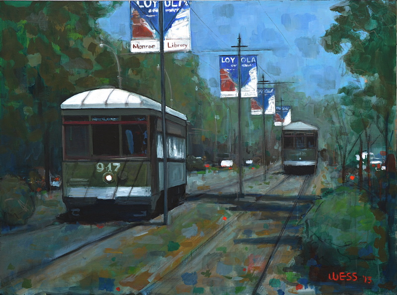 "New Orleans Streetcars #14  30x40"", SOLD"