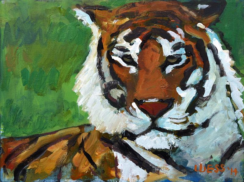 "Tiger, 11x14"", $80"