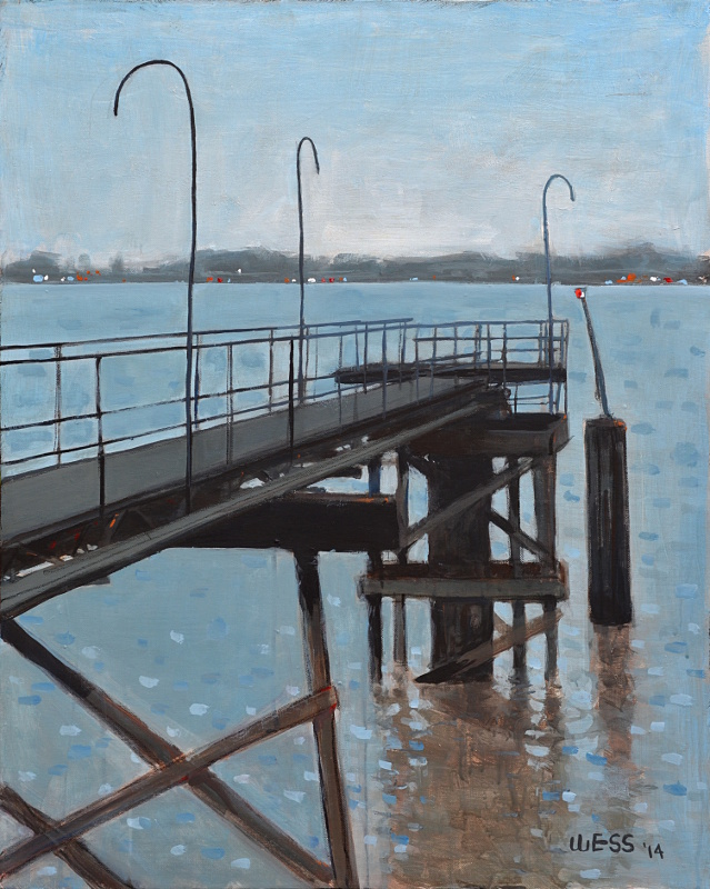 Mississippi River Dock #2, 30x24""