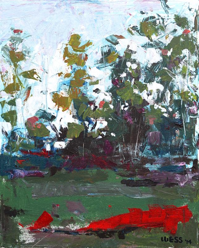 """Untitled Landscape, 20x16"""", $250  framed"""