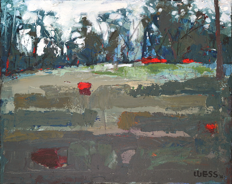 "Untitled Landscape #2, 16x20"", $250"