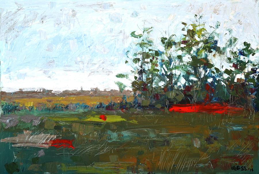 "Untitled Landscape #3, 24x36"", $500"