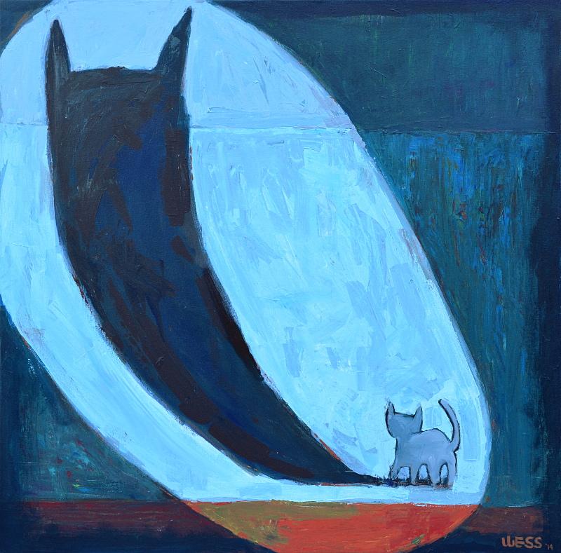 """Courage Kitten #2, 40x40"""", SOLD"""
