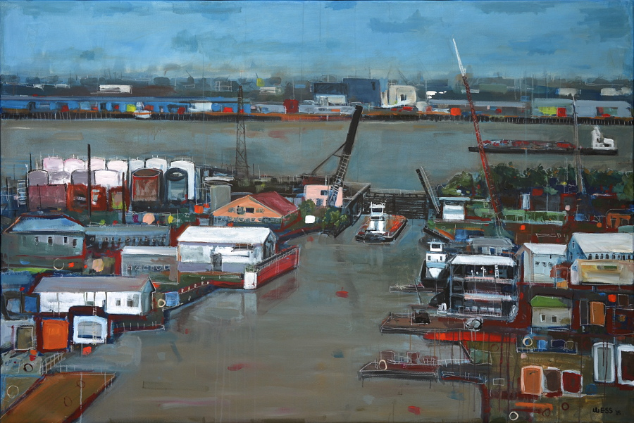 Where the Harvey Meets the Mississippi, 5'x7.5', N/A