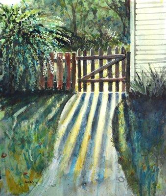 Sunlight Through the Gate