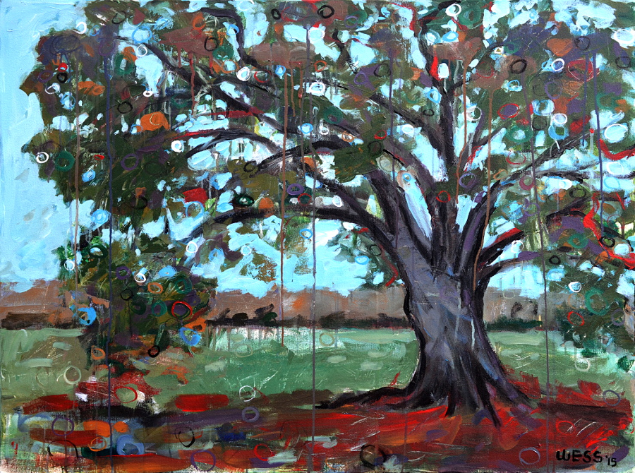 "Louisiana Live Oak, 36x48"", $1400  (no. 1034)"