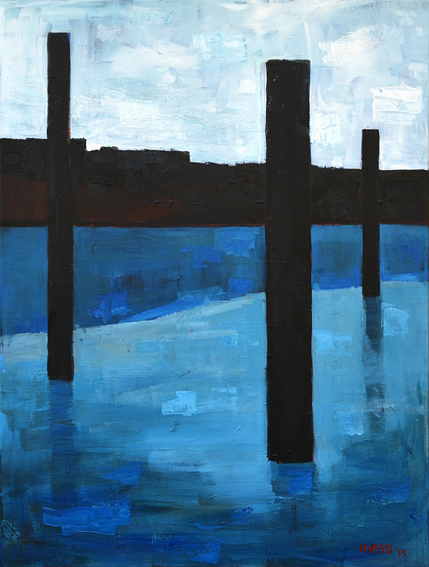 "Untitled Blue #3 , 48x36"",  SOLD"