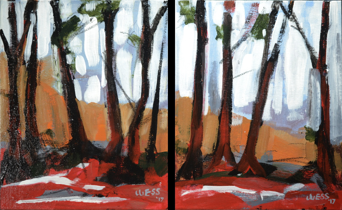 "Through the Wild Wood series---small, 10x8"", $50 each w/free shipping"
