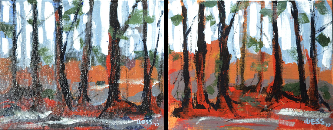 "Through the Wild Wood series---small, 8x10"", $50 each w/free shipping"