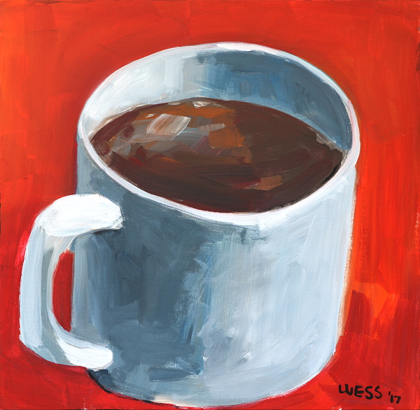 "Cup a Coffee, 20x20"", SOLD"