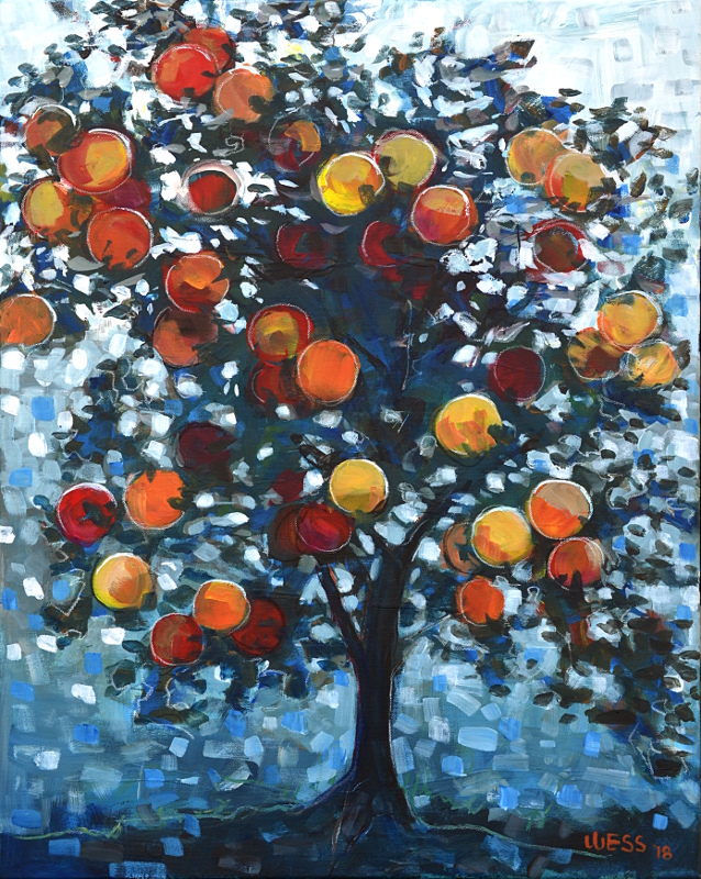 "Satsuma Tree #2, 30x24"", $600"