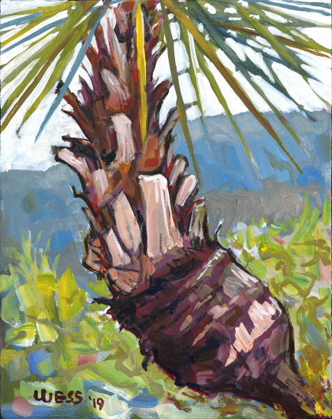 "Palm, 14x11"", $150"