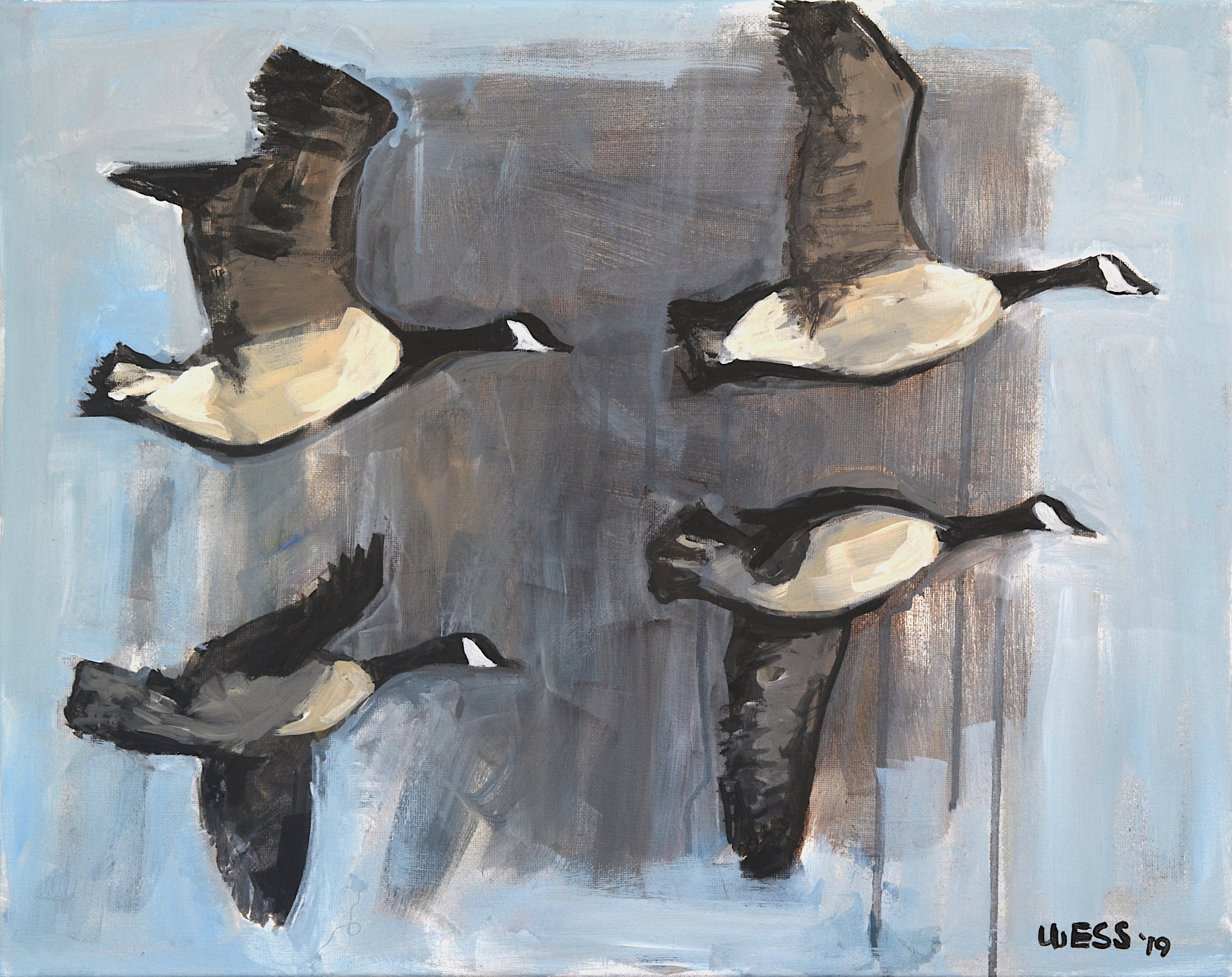 "Geese Flying, 16x20"", $350"