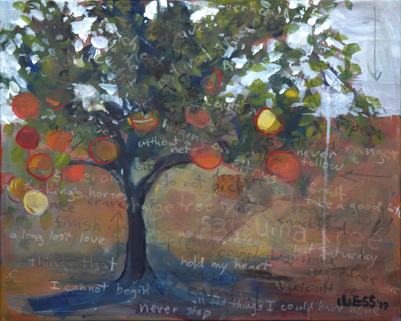 "Notes on a Landscape: Satsumas, 16x20"", $350"