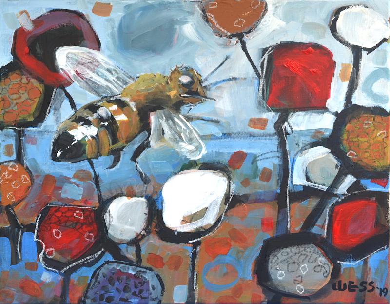 "Pollen, 16x20"", $350"