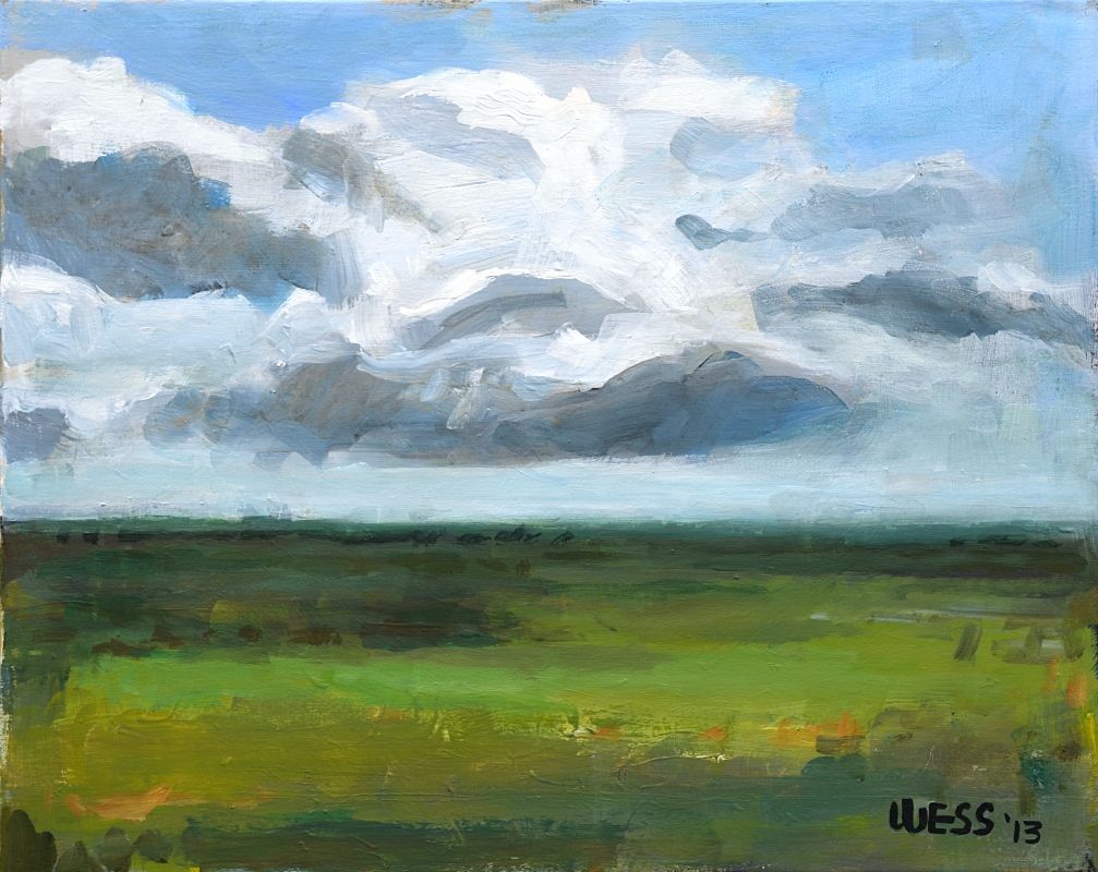 Someplace w/ Clouds, framed, sale price: $100