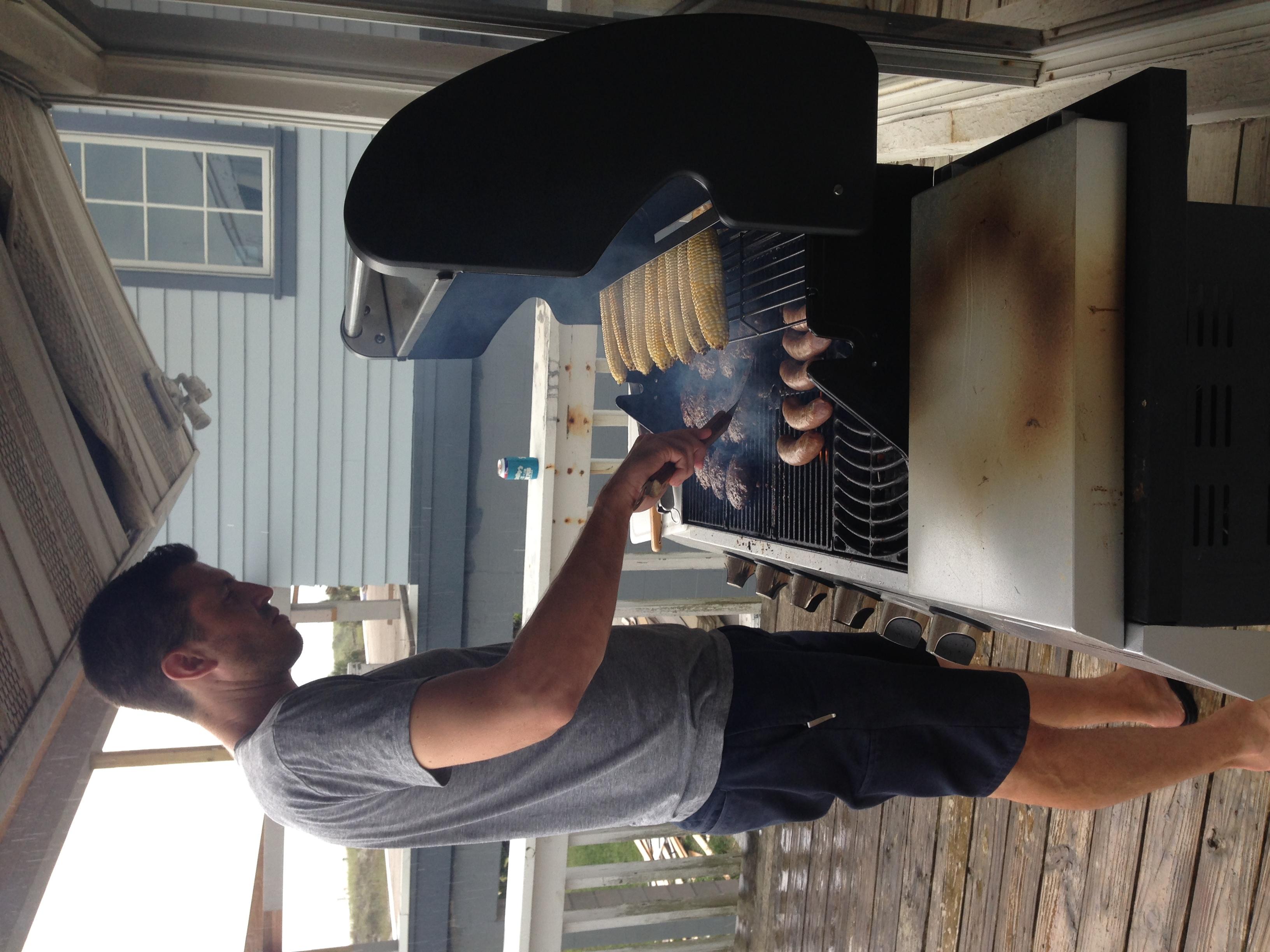 Jason at the grill.