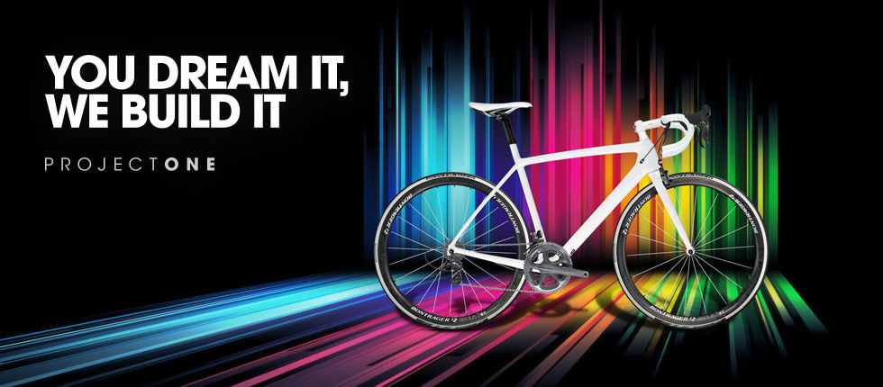 Don't settle for anyone else's bike. Create your very own with Project One, Trek's custom bike program. Customize, personalize, sensationalize, the choice is yours. Just select the model, fit, styling, and components you desire, and we'll build your dream bike.    Start customizing your Trek ProjectOne today!
