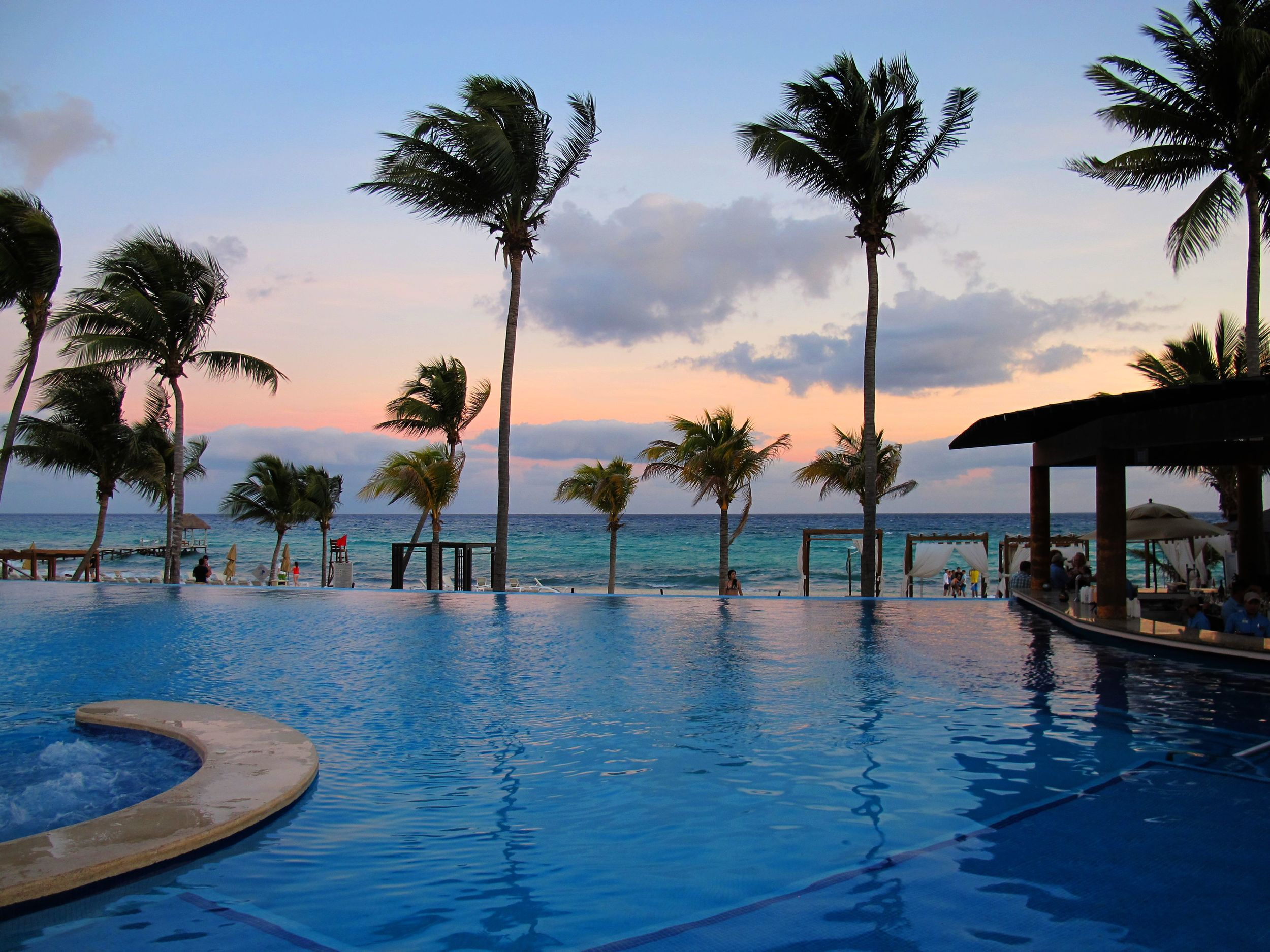 Luckily with this view in Playa del Carmen, Mexico, it didn't matter what I was drinking