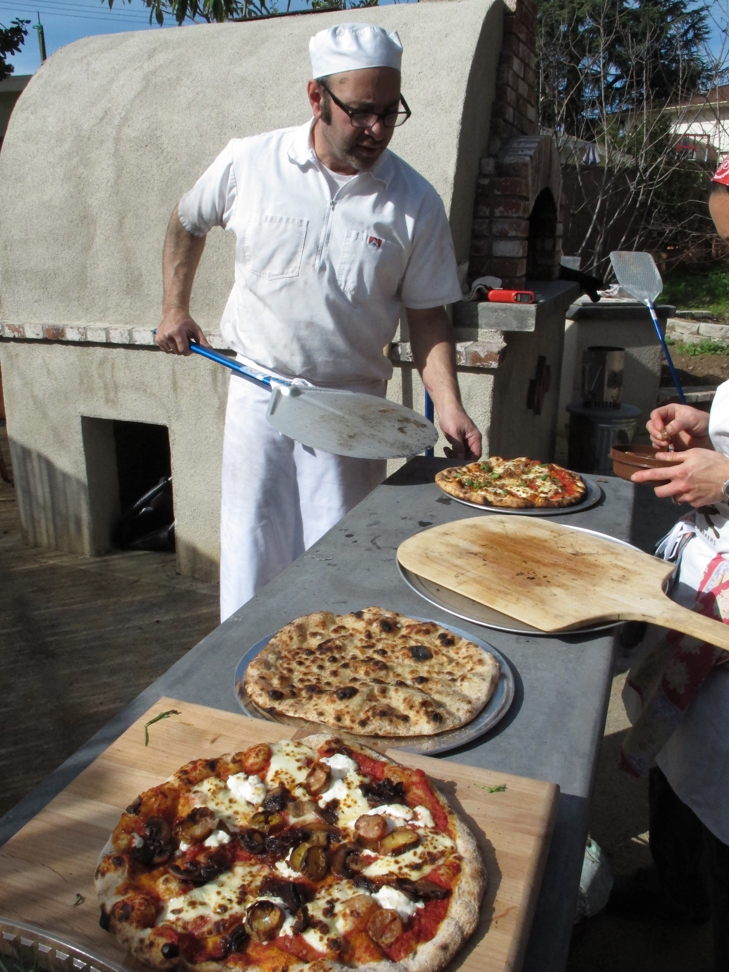 There's always a home for harden cheese in the brick oven pizza