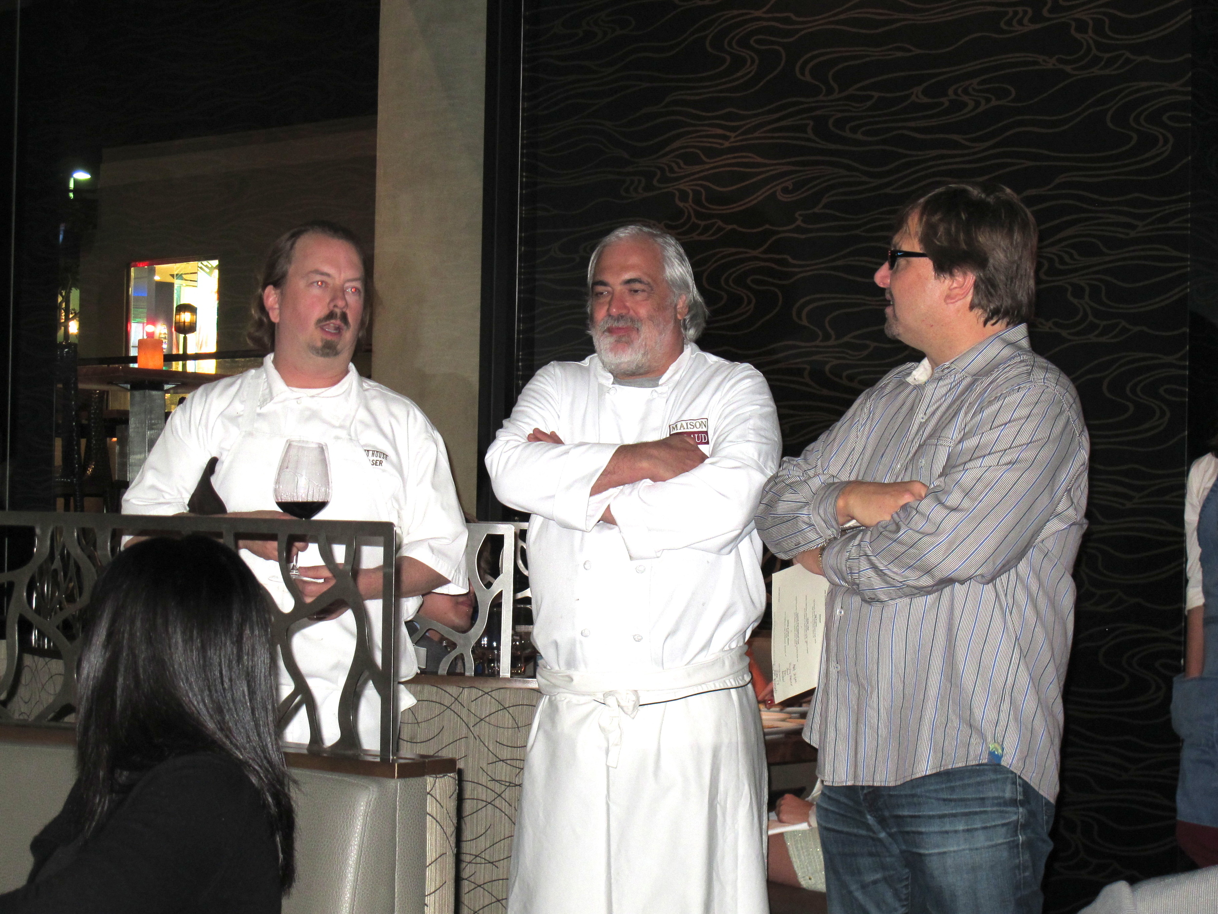 Strand House chef Neal Fraser, French chef Alain Giraud, and Strand House owner Michael Zislis