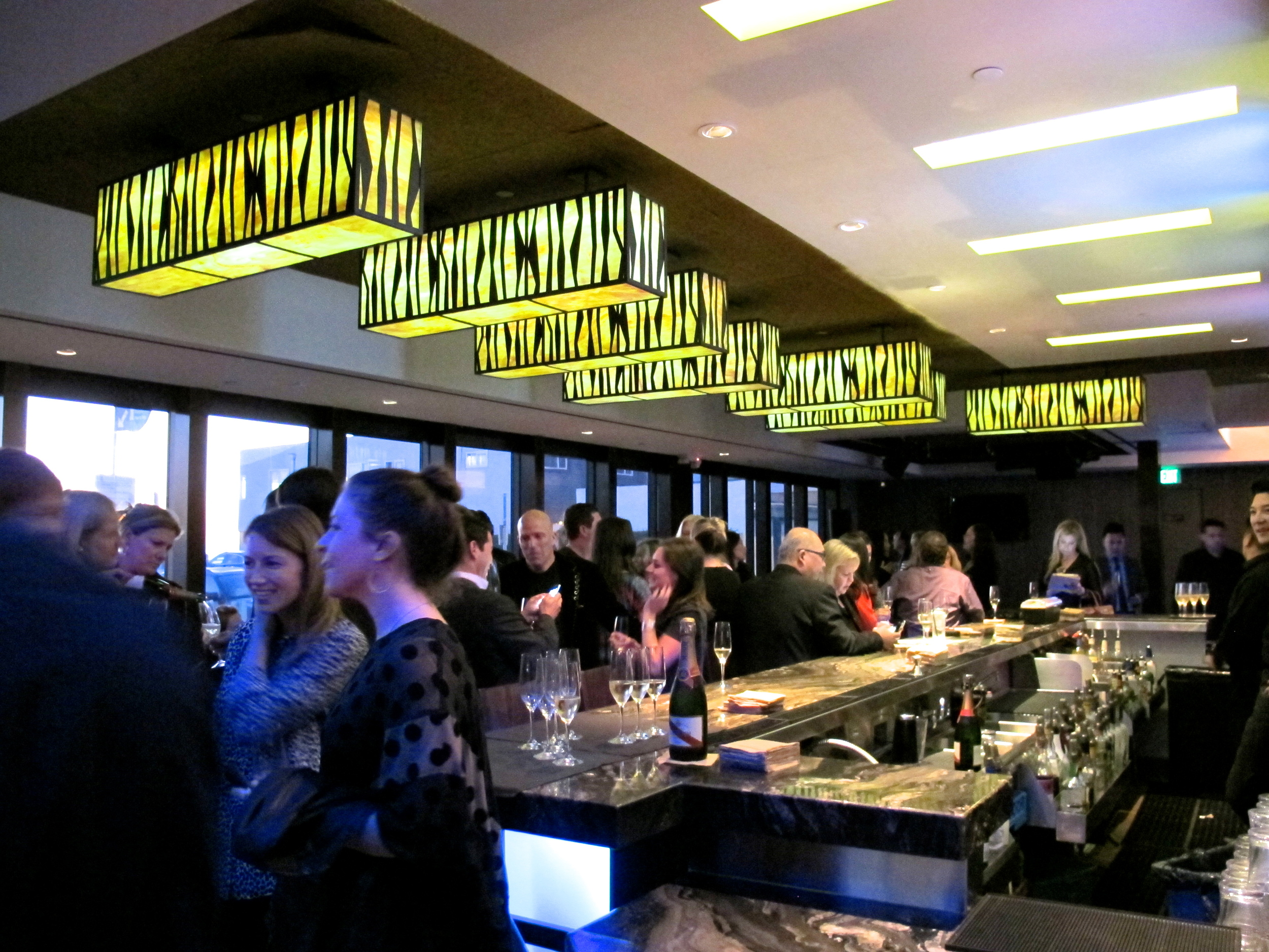 The Strand House's lower bar and kick off area for the evening