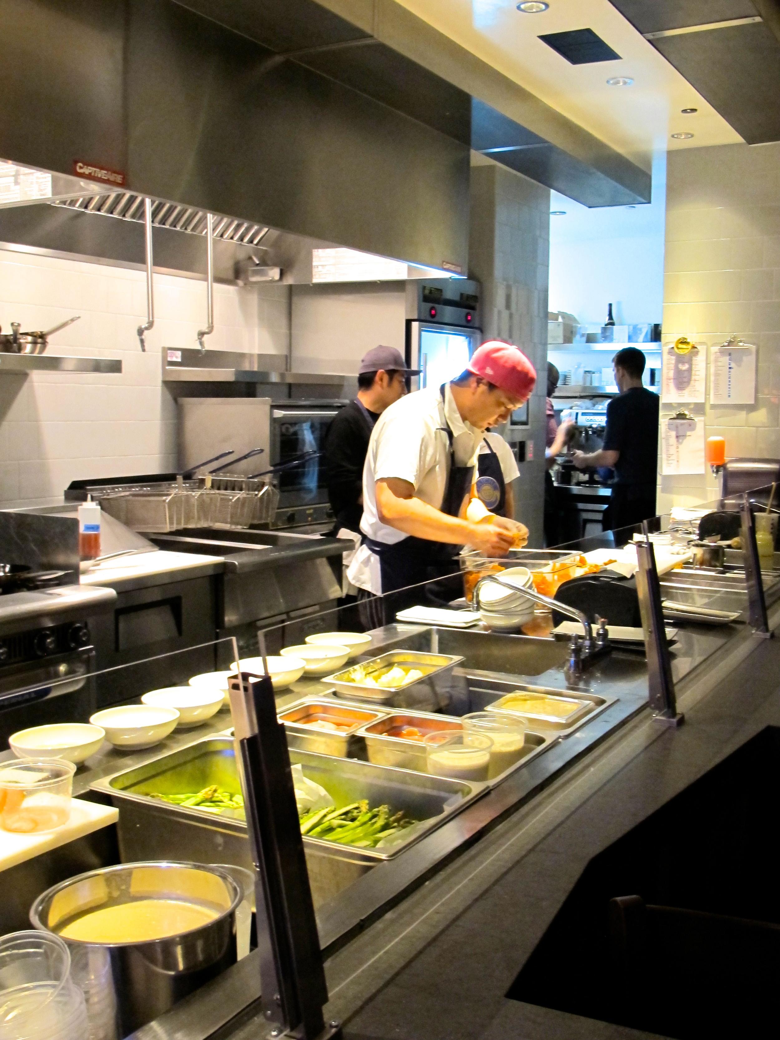 Paiche's open kitchen