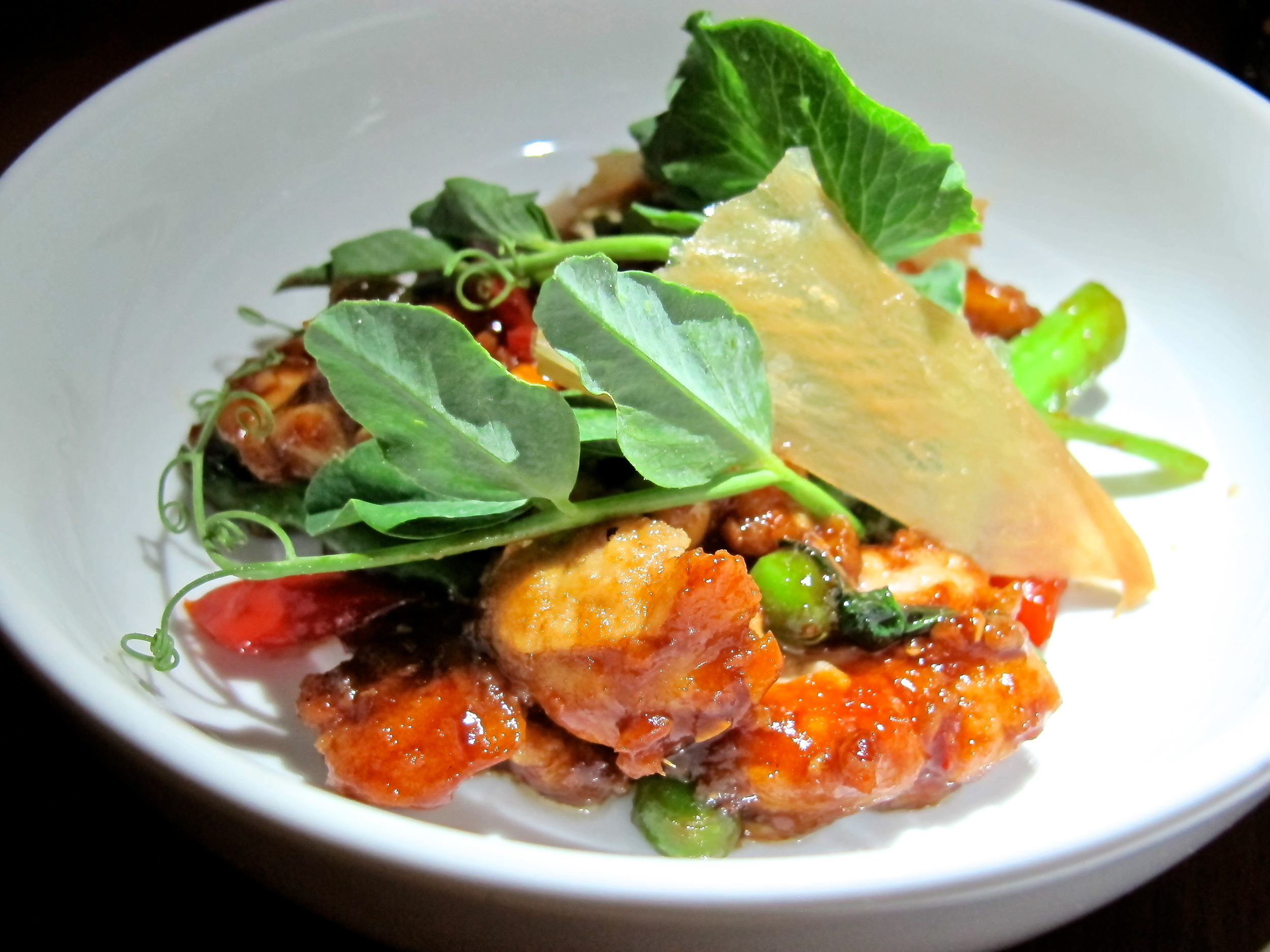 If you've been nervous to try sweetbreads in the past, then here's a great starter dish for you. The Kung pao spices filled it with so much flavor, you had to ask again what you were eating.