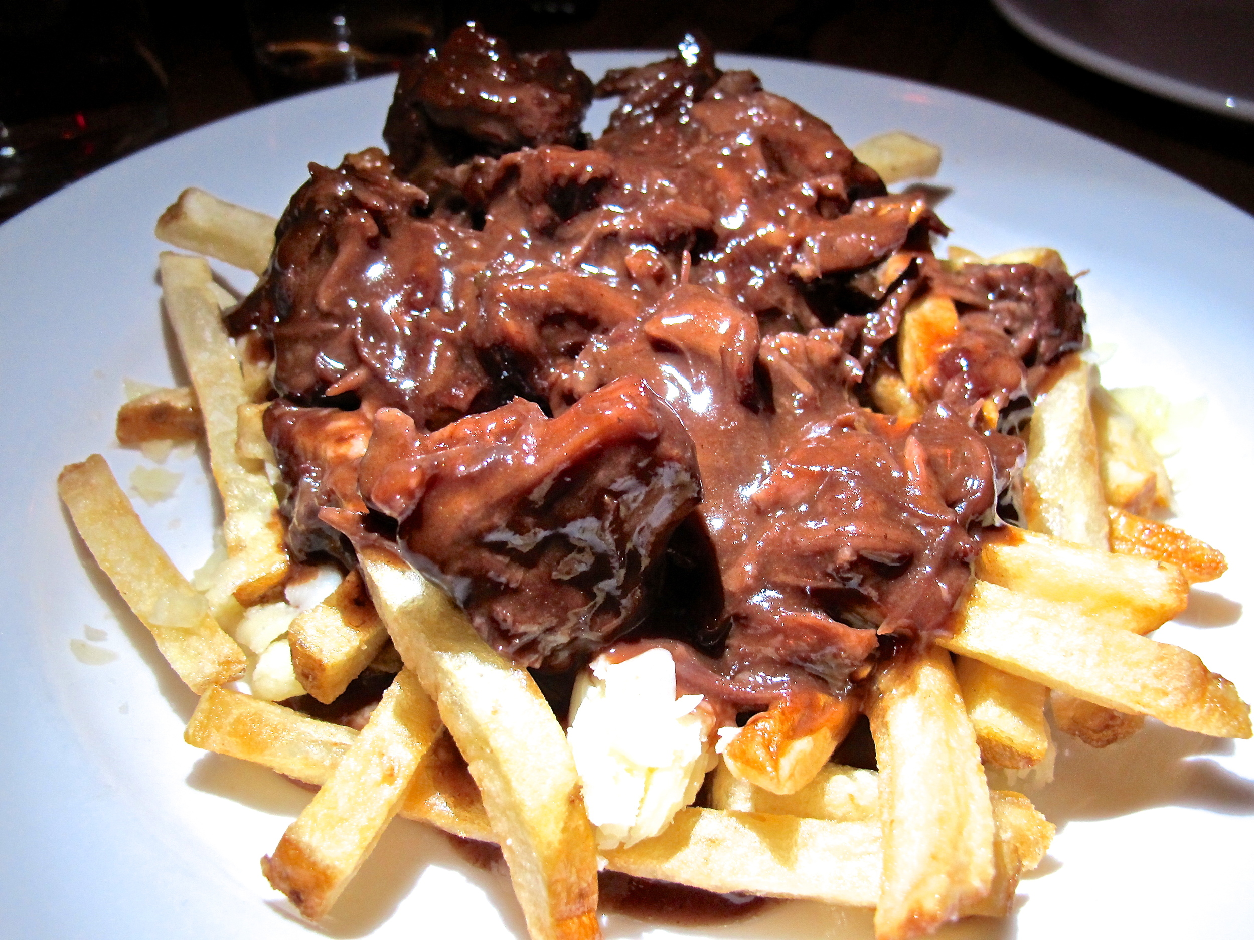 Nothing wrong with a little poutine with oxtail gravy.