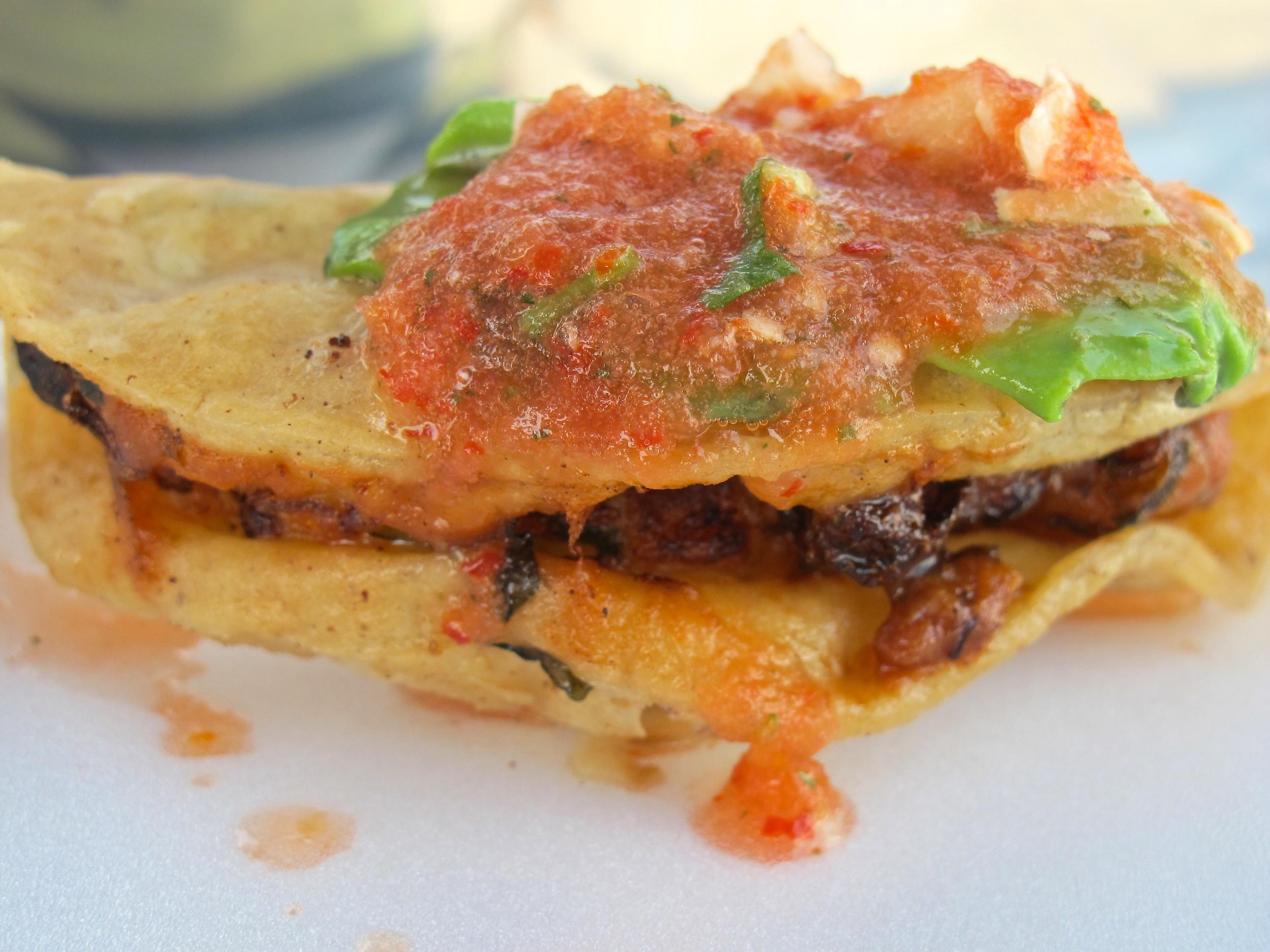 Mariscos Jalisco's crispy shrimp taco