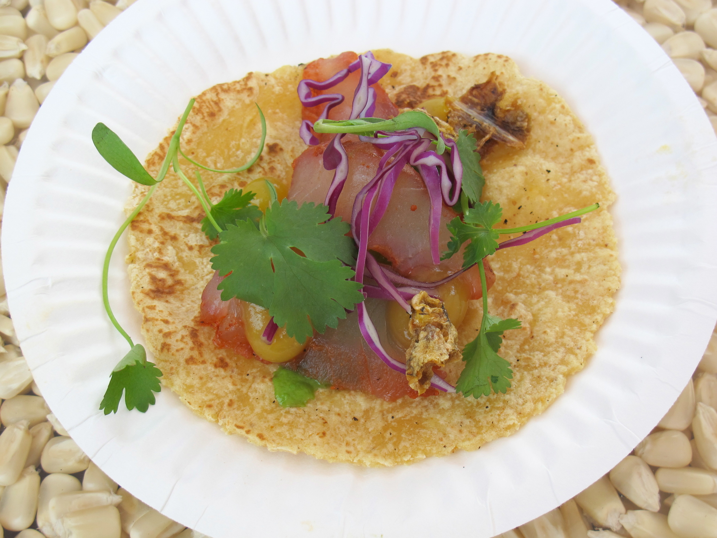 George's at the Cove's cured snapped taco