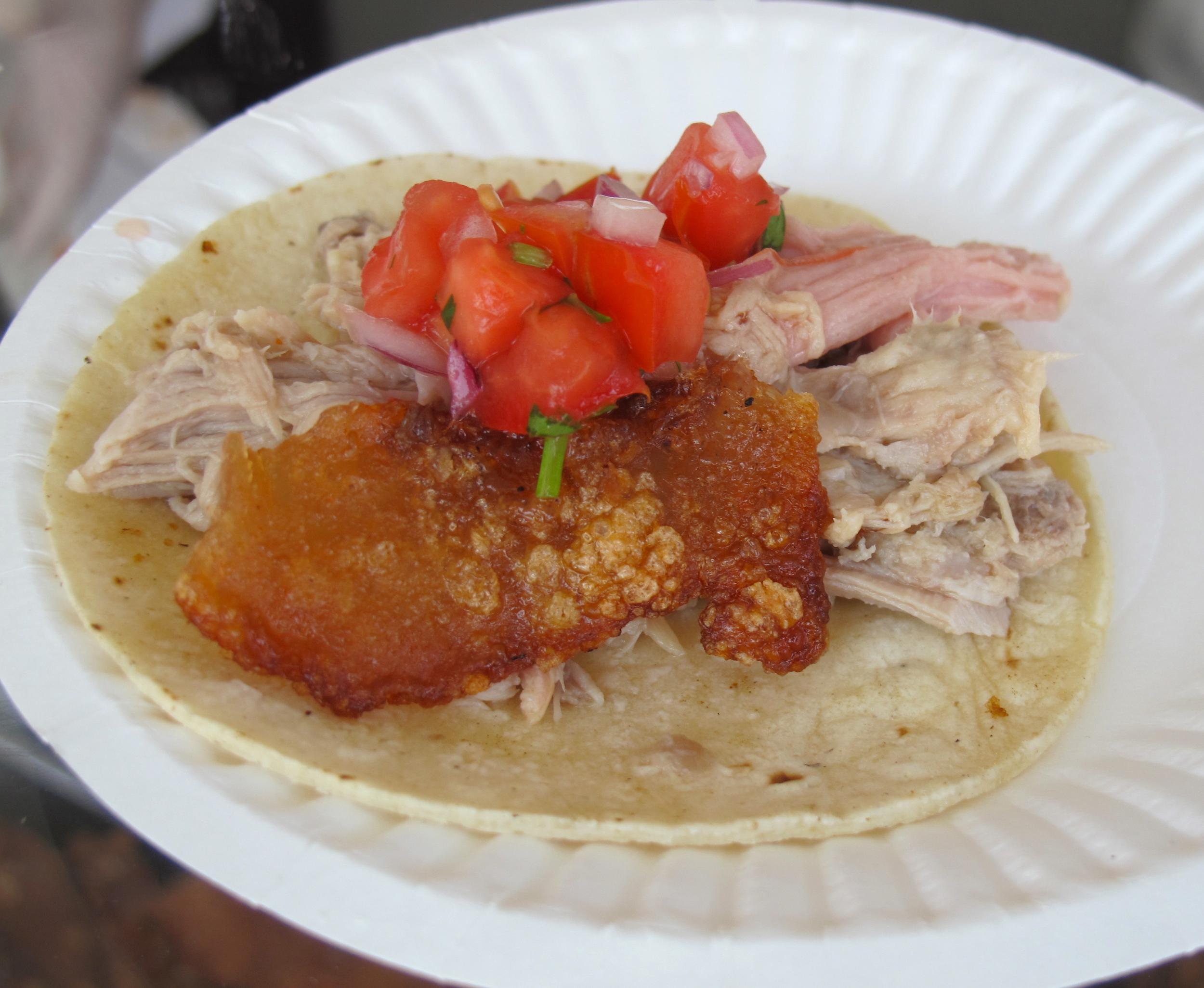 Chichen Iza's pork tacos