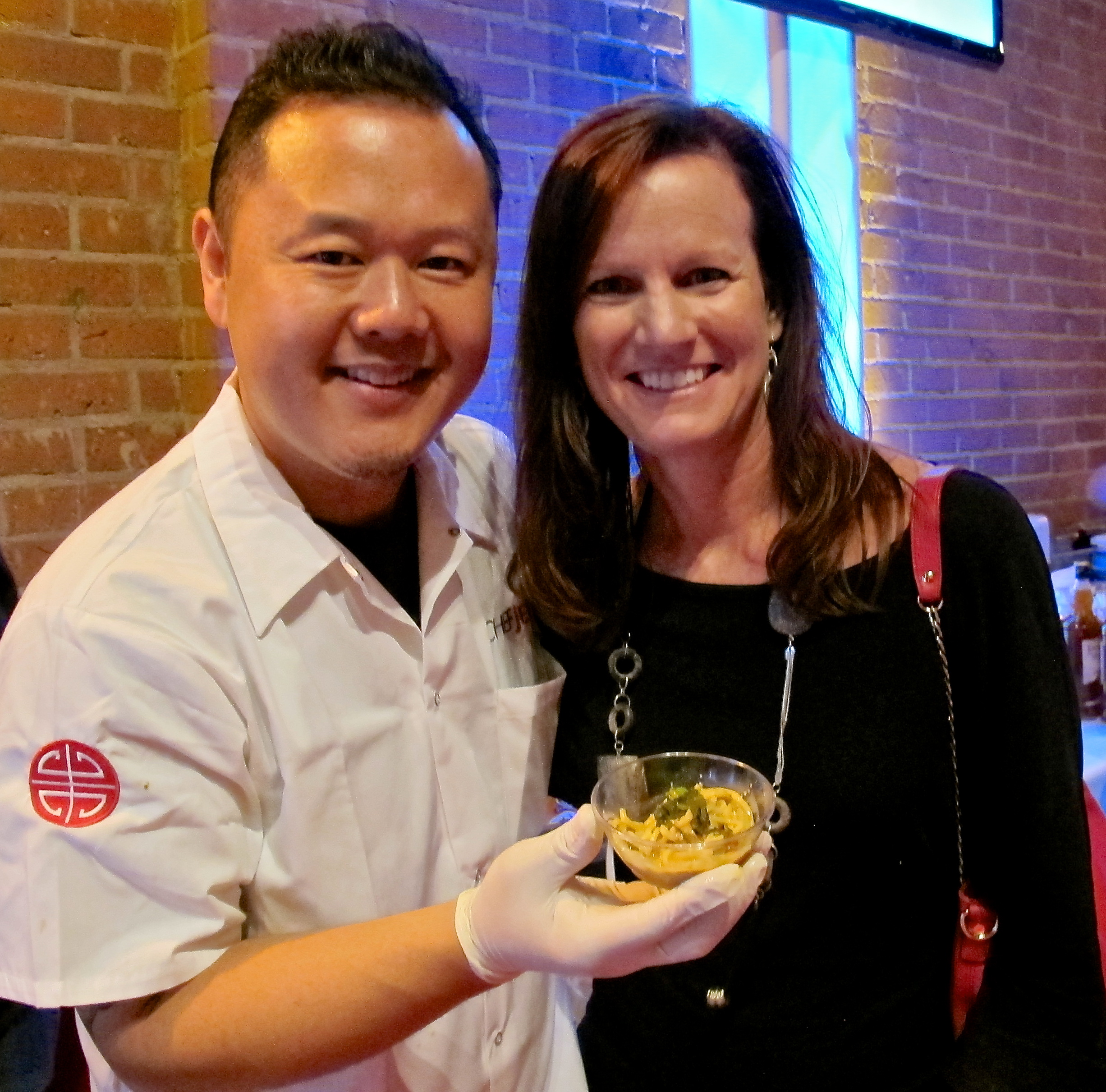 Chef Jet Tila and I with his curry noodle soup