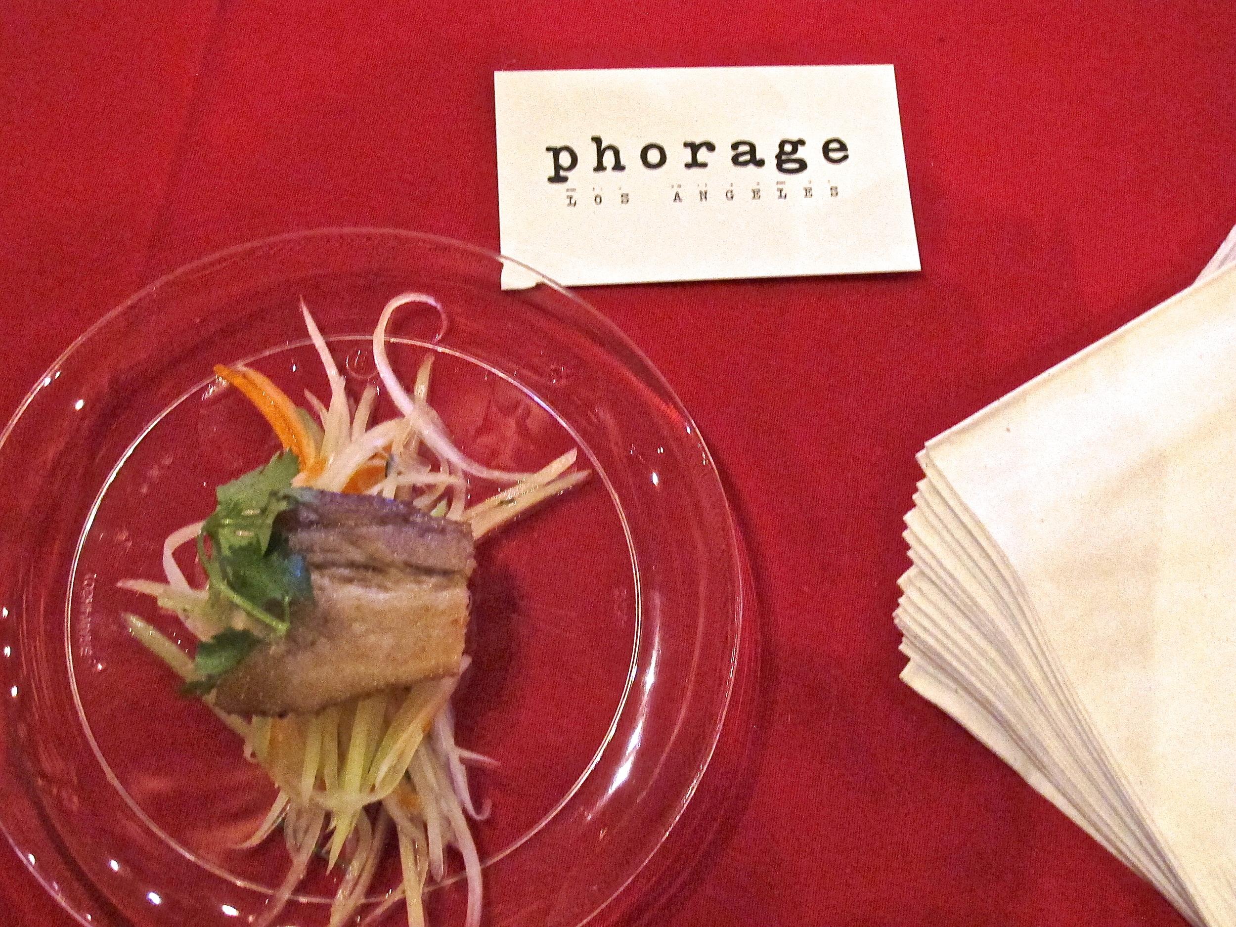 Lemongrass pork belly from Phorage