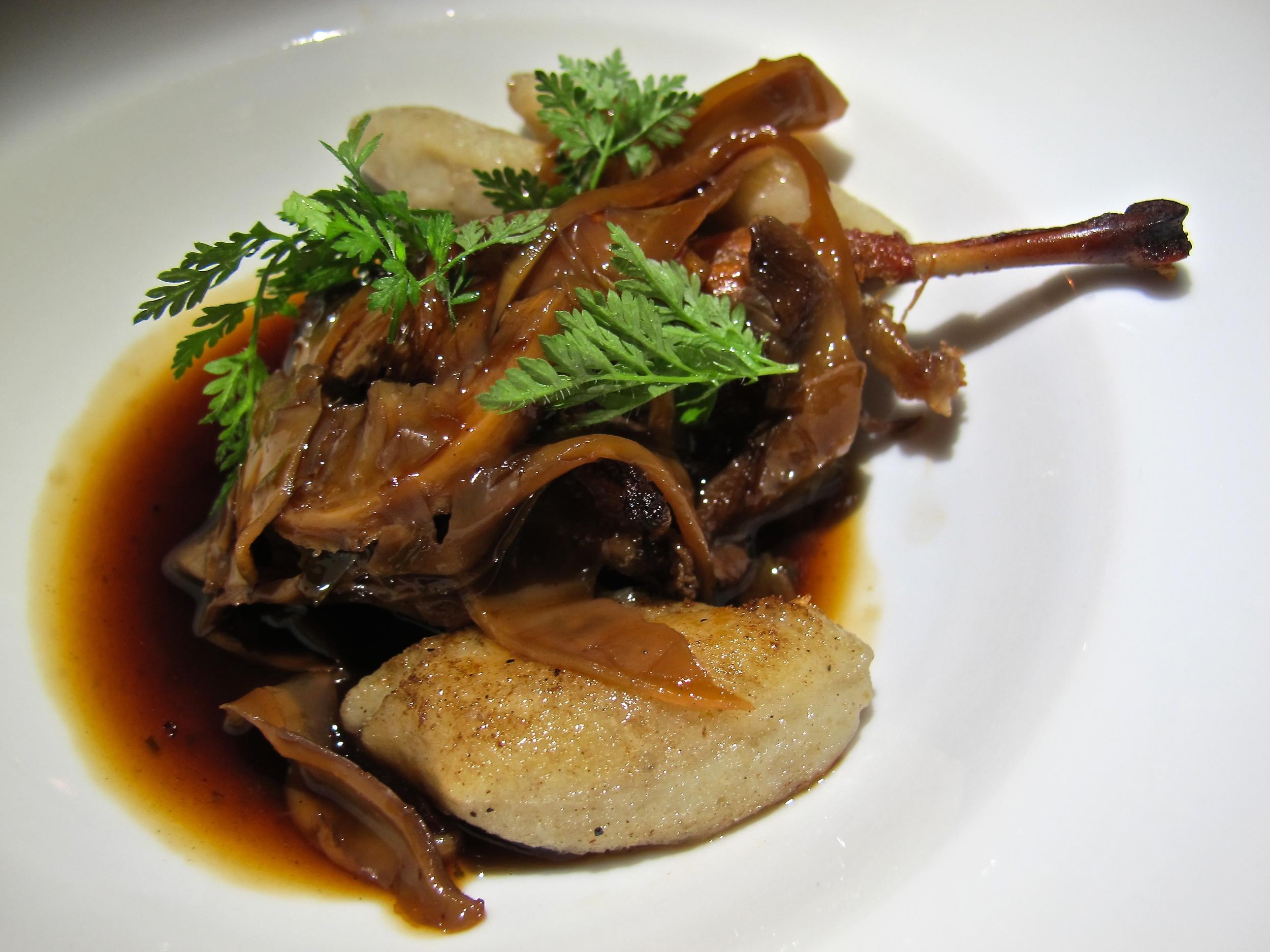 Wild Food quail confit