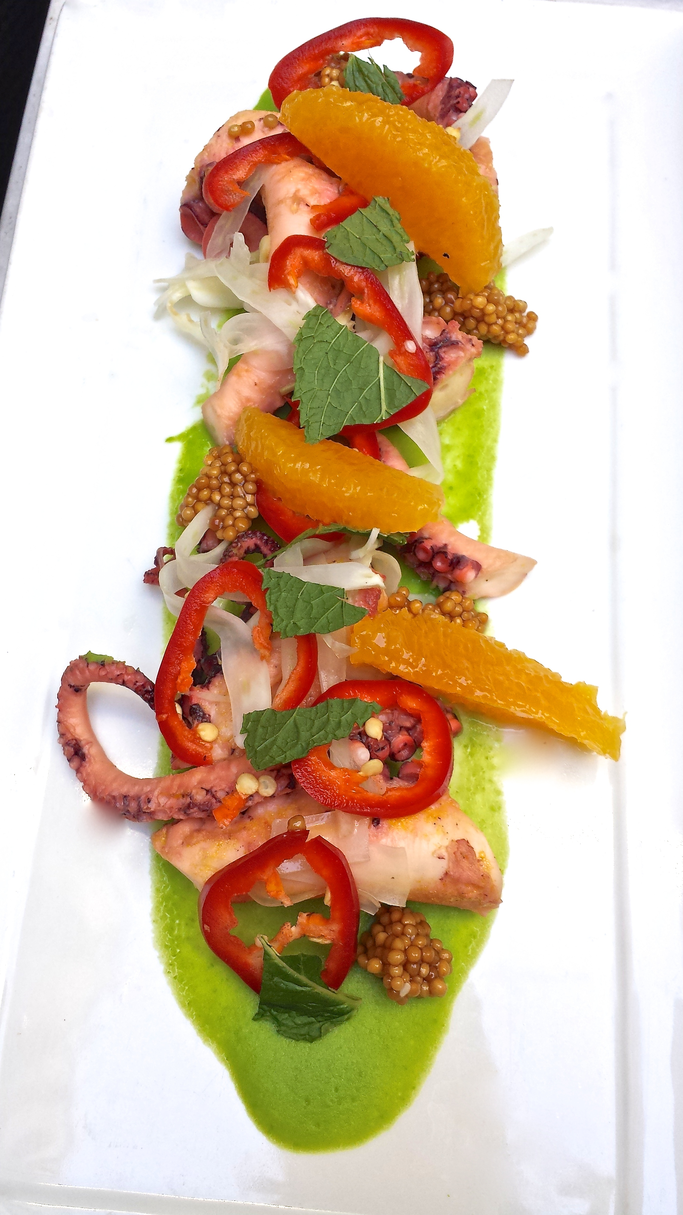 Wood and Vine's grilled octopus