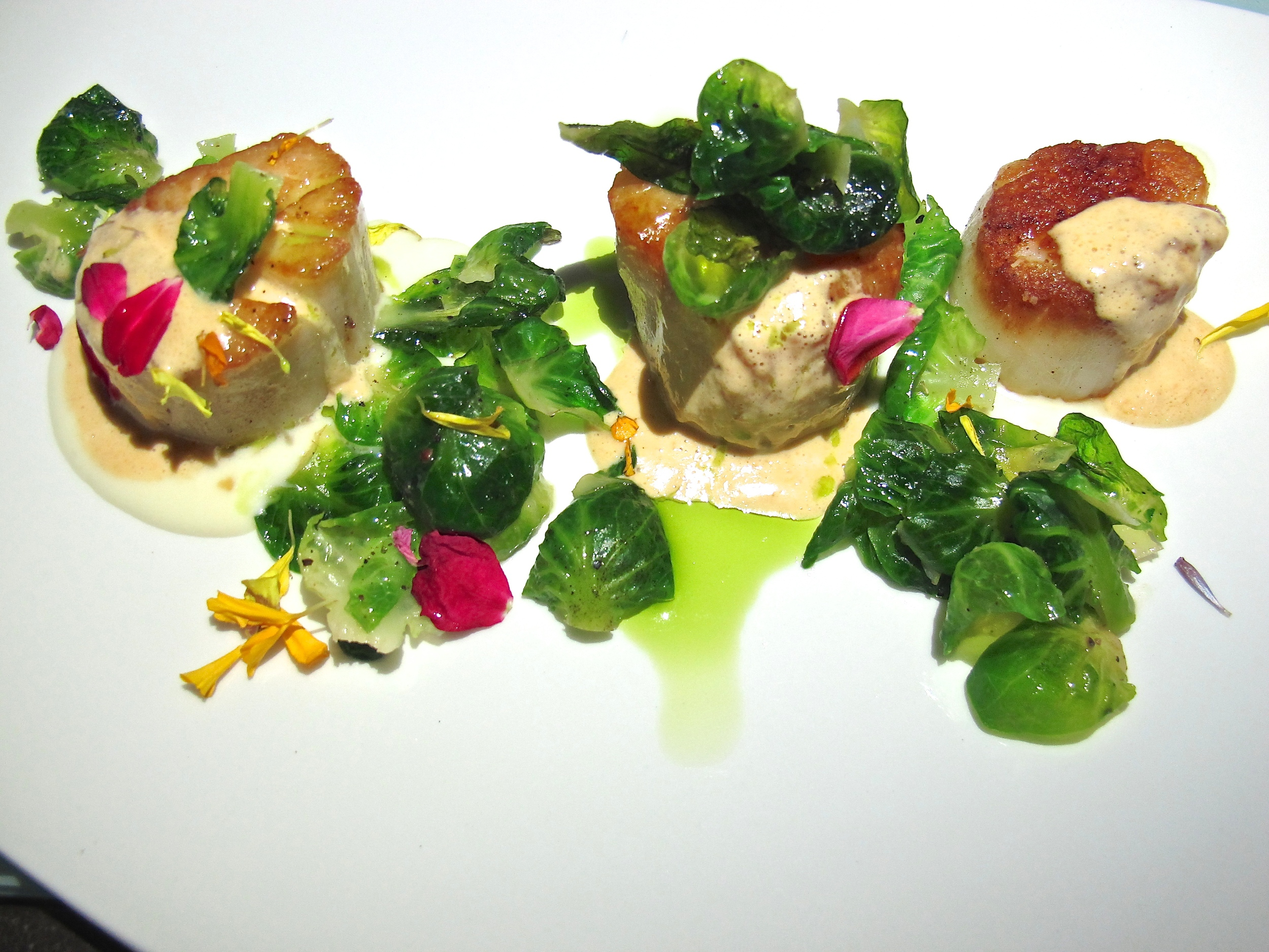 Cast and Plow's scallops