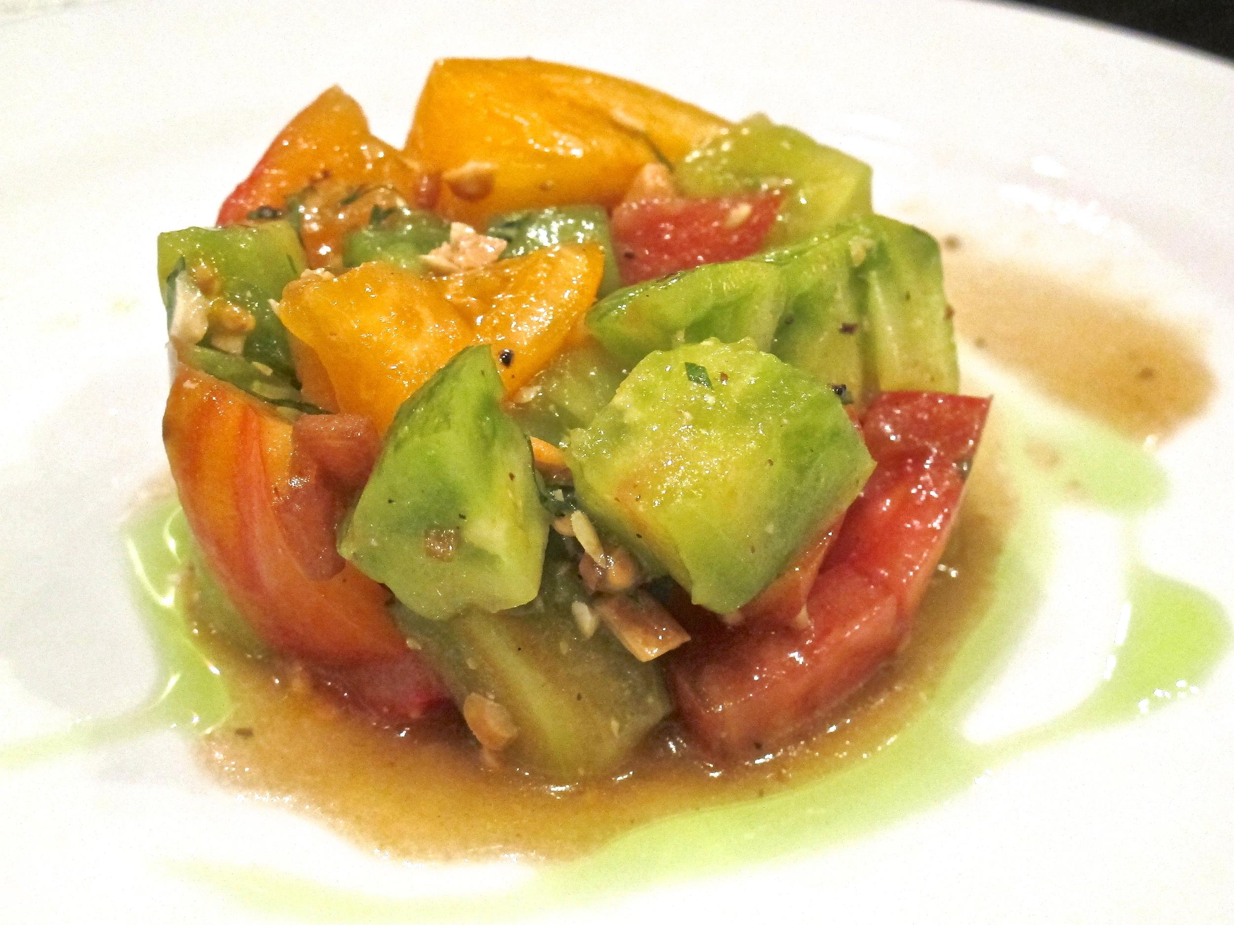 b.o.s. heirloom tomato salad
