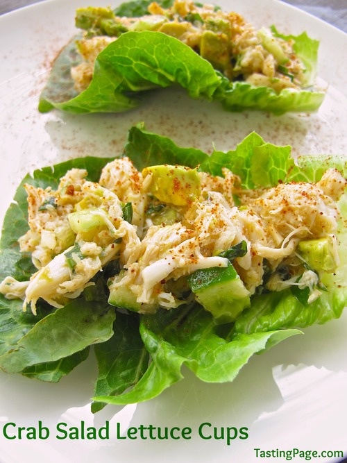 Crab Salad Lettuce Cups {Mayonnaise Free} — Tasting Page