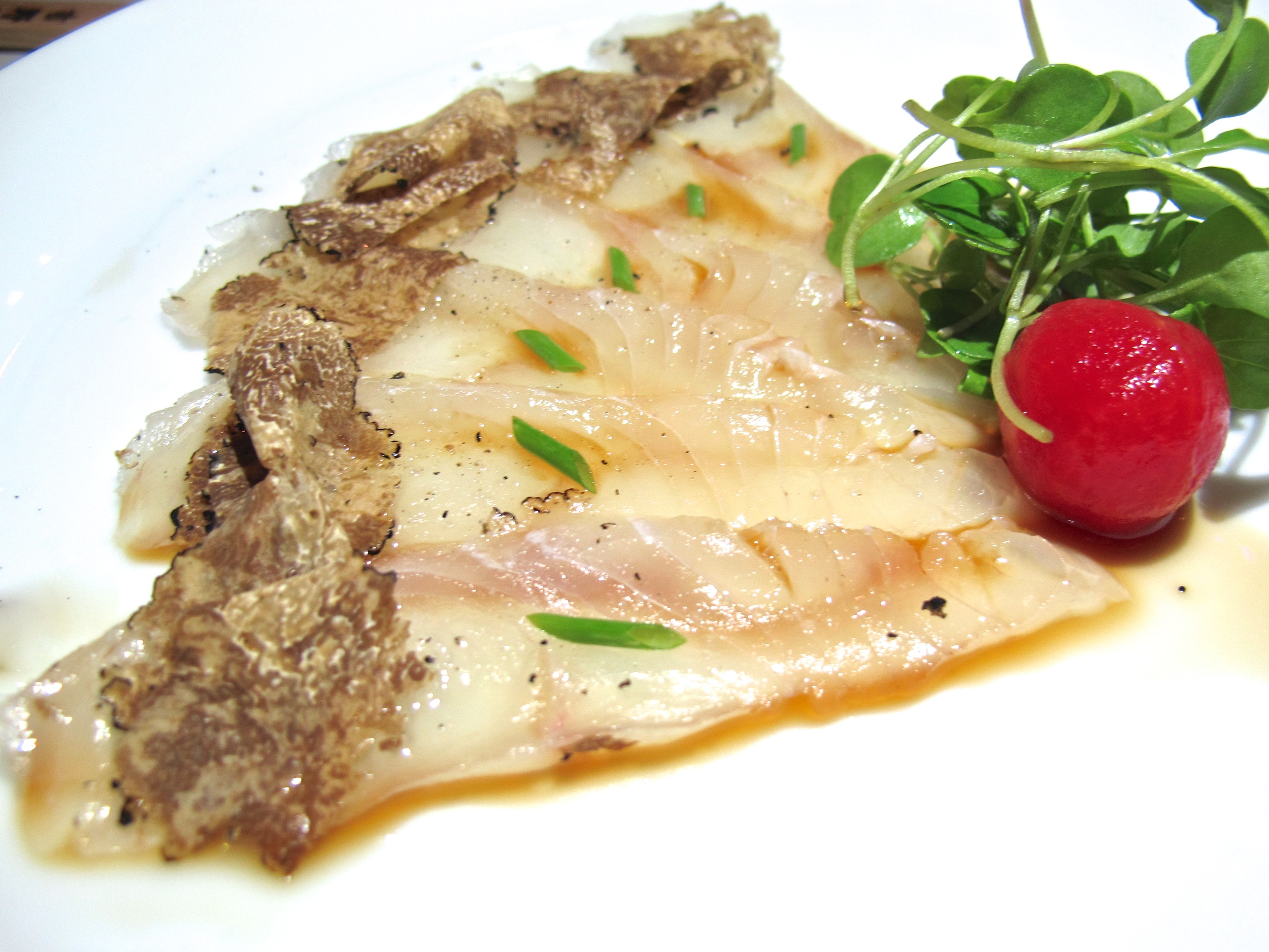 Shiki halibut with truffle