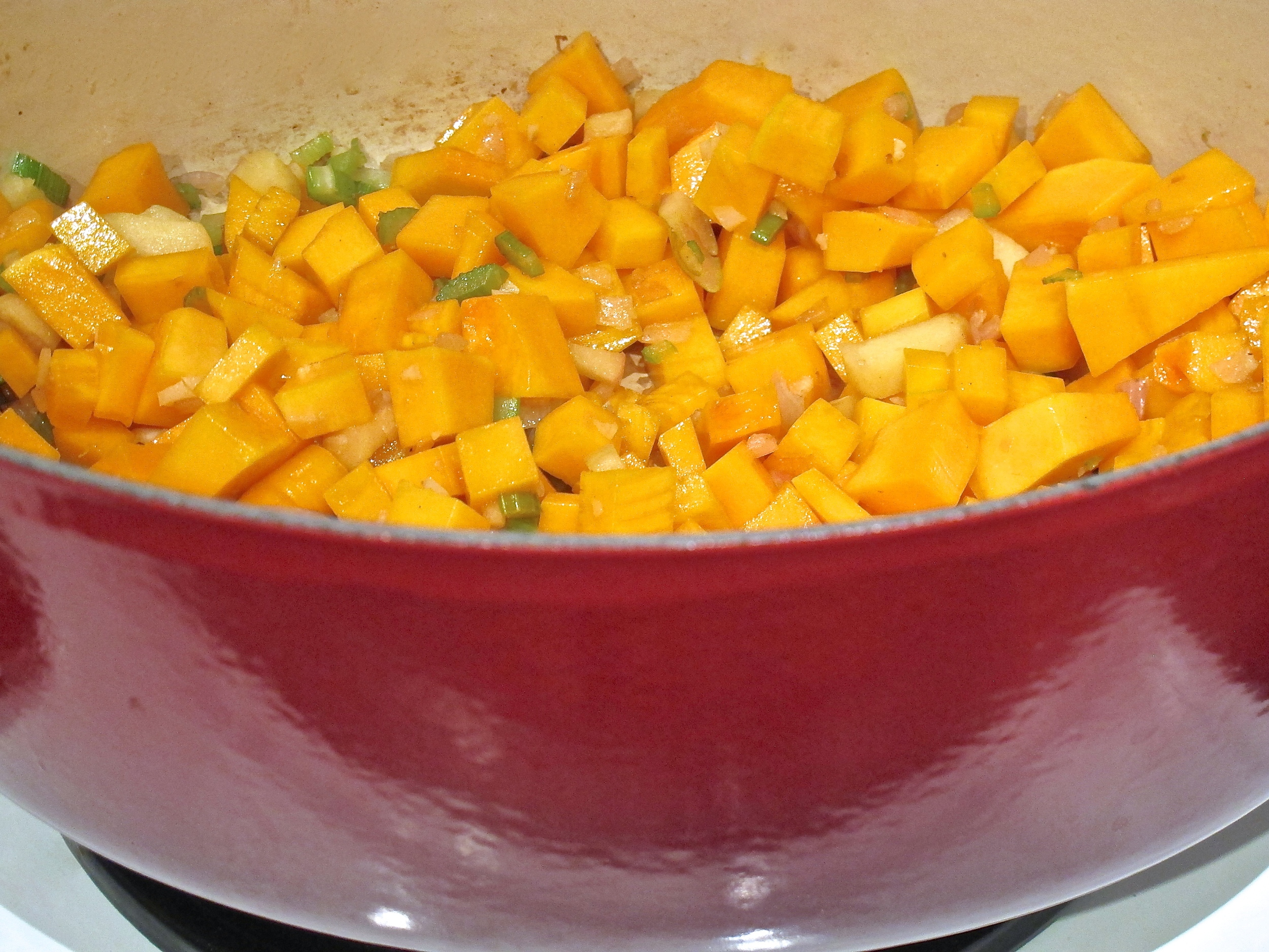 Spicy Butternut Squash Soup with Chorizo