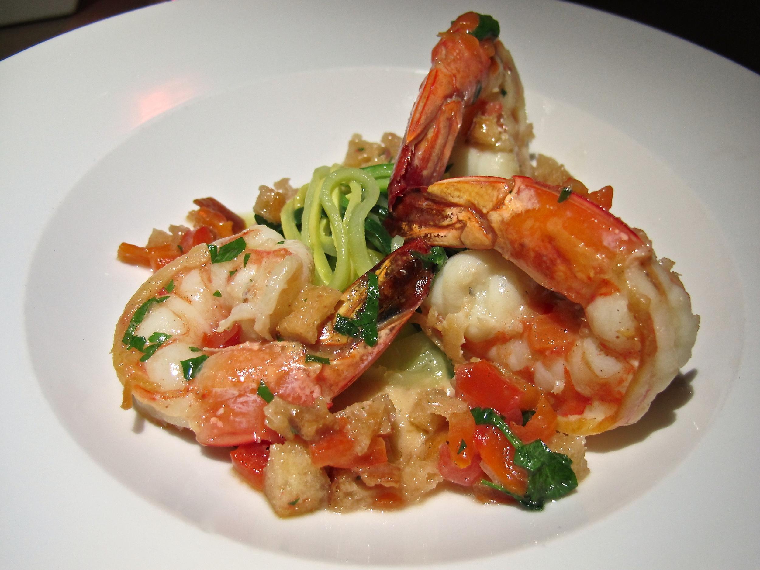 Jiraffe Restaurant shrimp