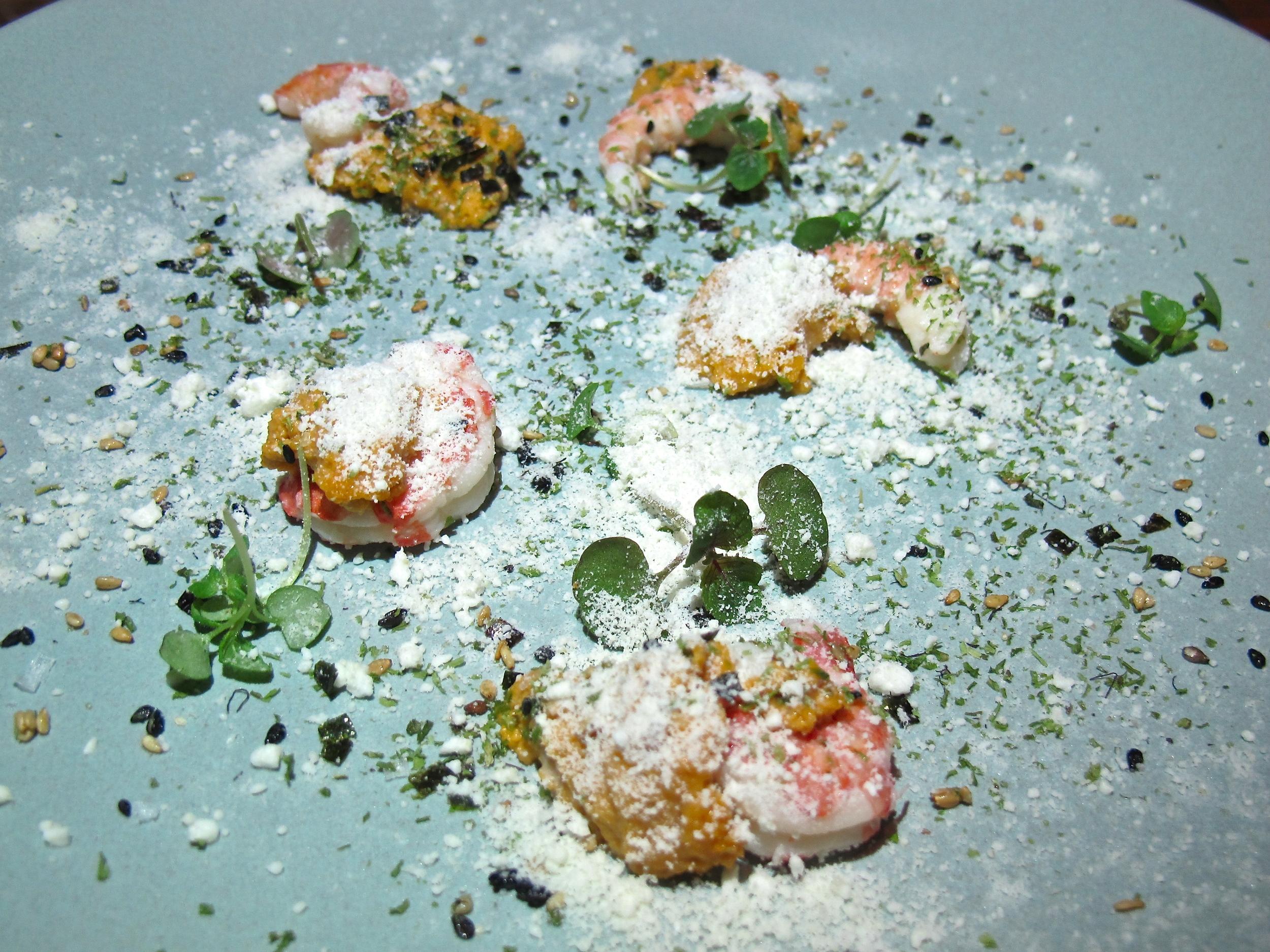Redbird shrimp and uni