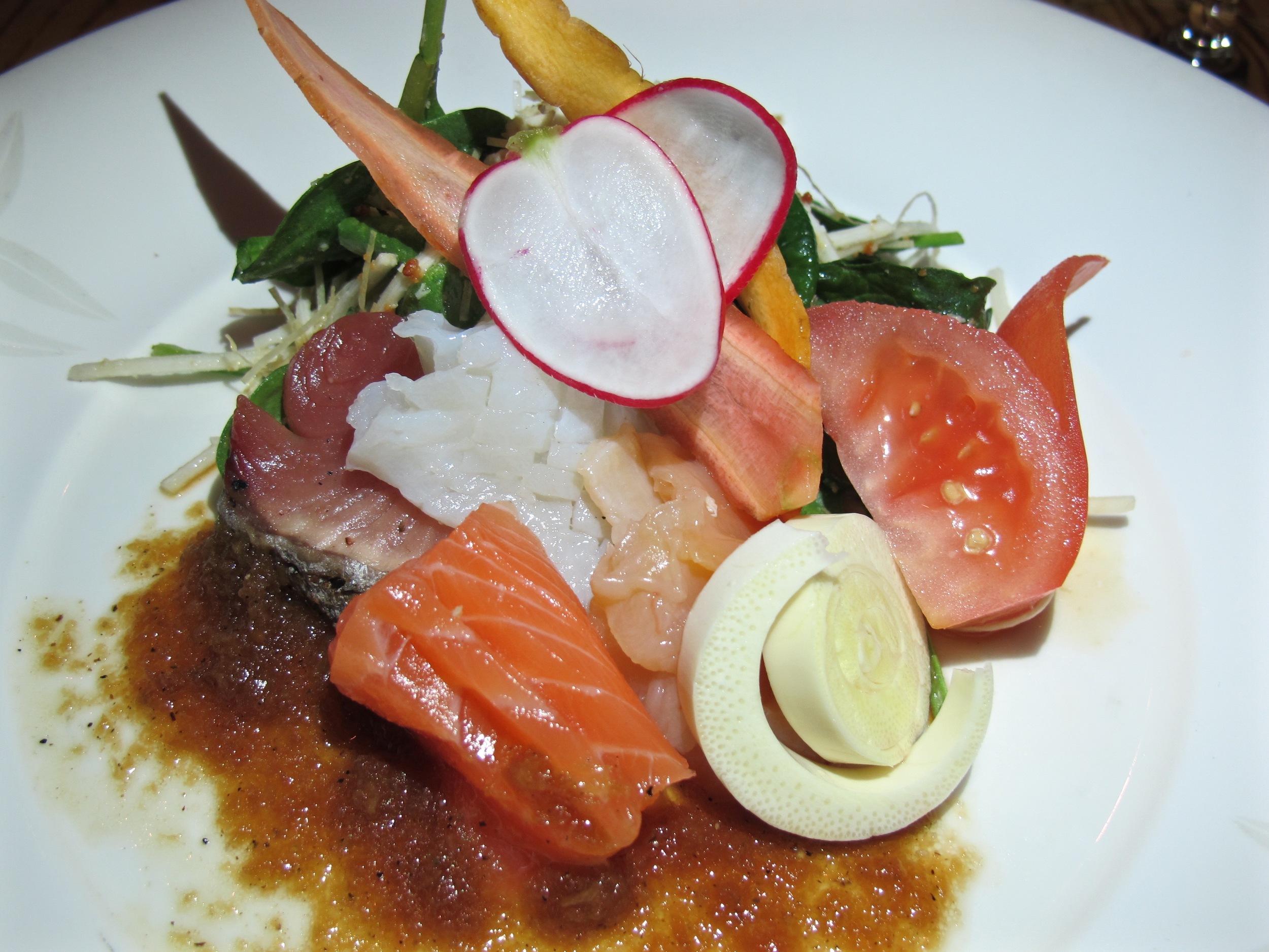 Matsuhisa sashimi salad