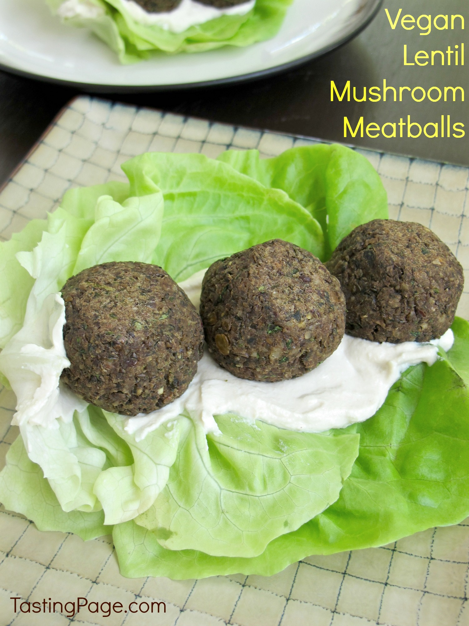 Vegan Lentil Mushroom Meatballs - a tasty meat-less meal filled with veggies - Tasting Page