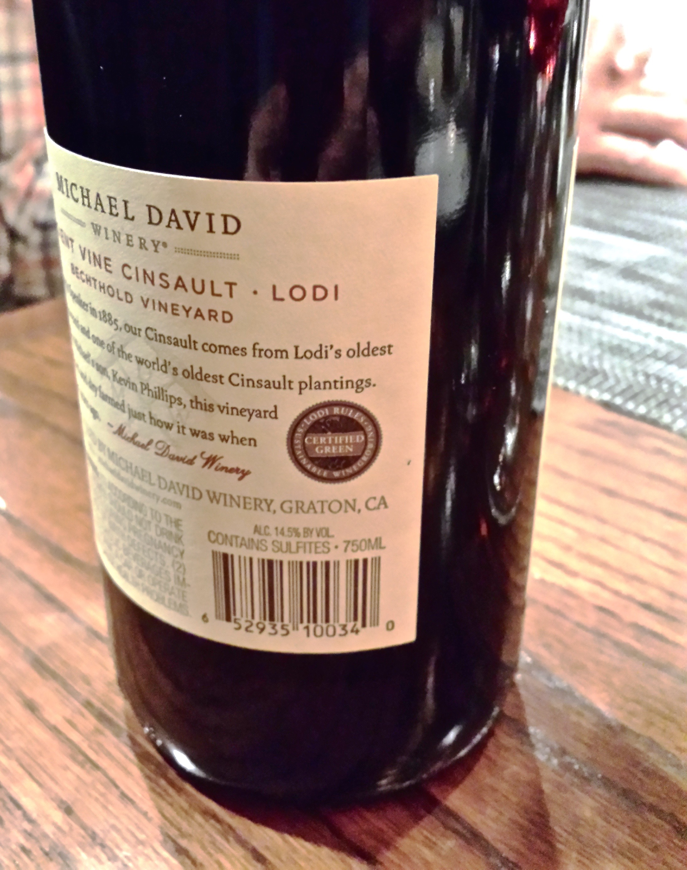 Lodi Rules Certified Green wine