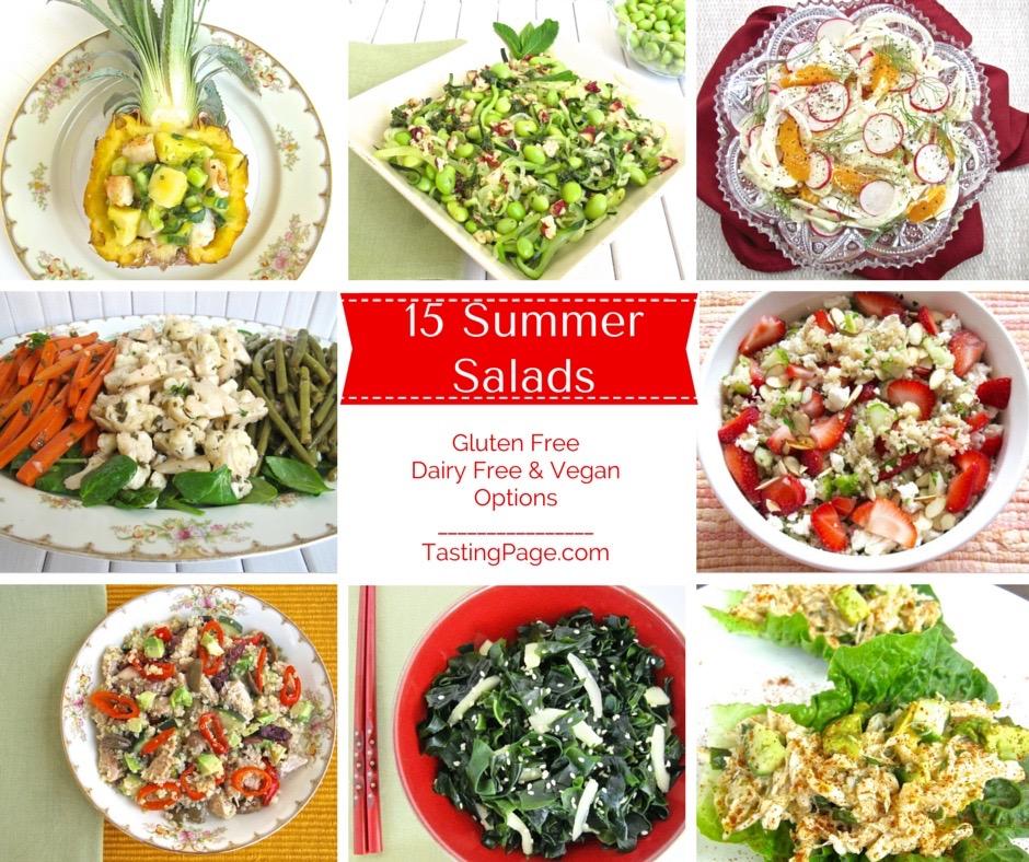 15 Summer Salads - healthy & gluten free with vegan & dairy free options