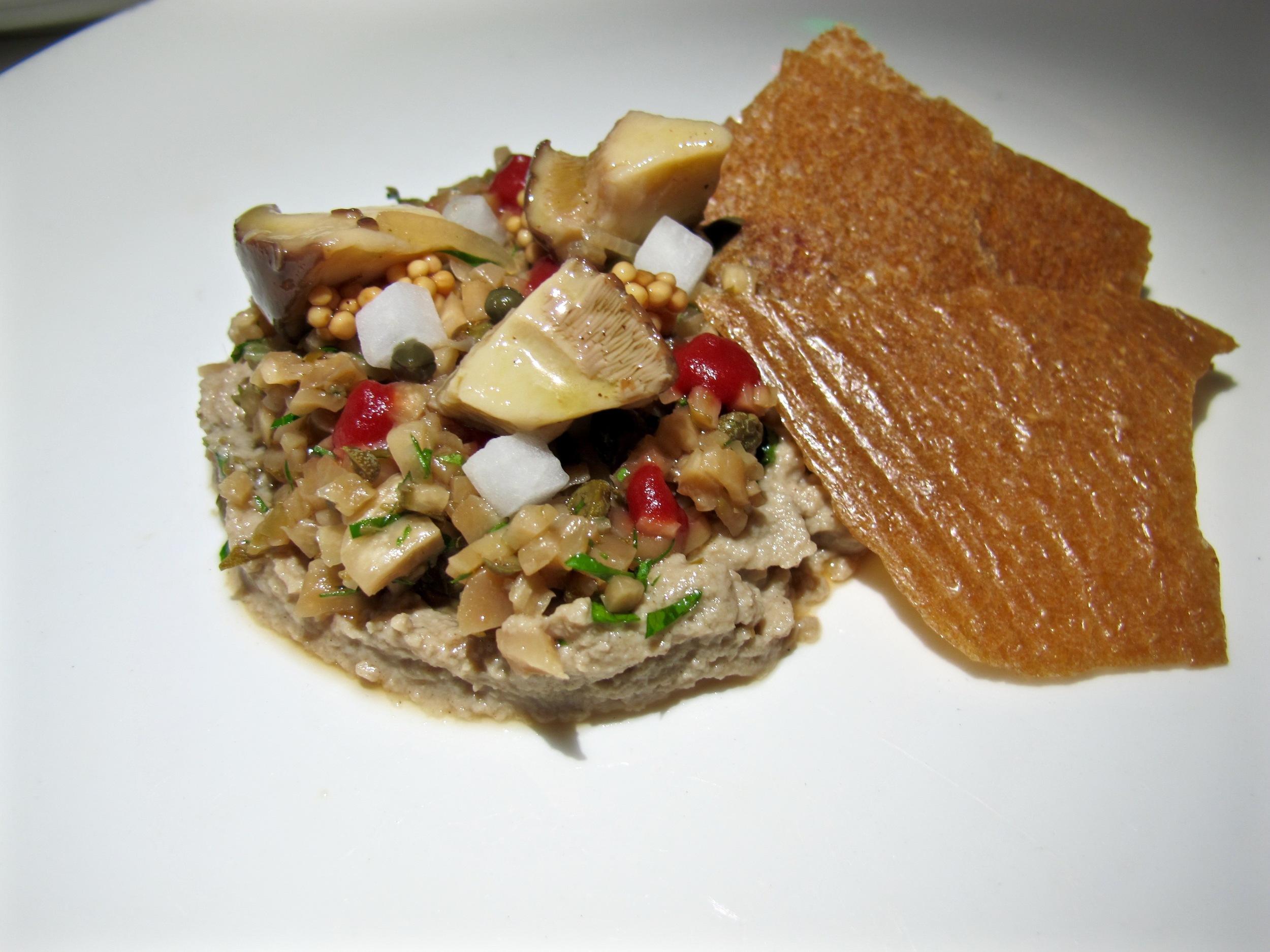 Plant Food and Wine Mushroom Tartare