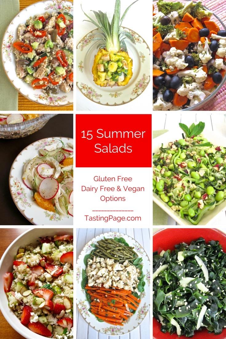 15 Summer Salads - gluten free with vegan & dairy free options